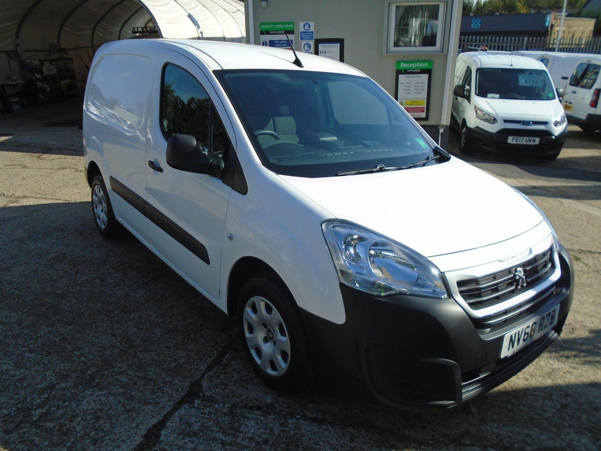 2017 Peugeot Partner 850 1.6 Bluehdi 100 Professional Van [Non Ss] (NV66RZB)