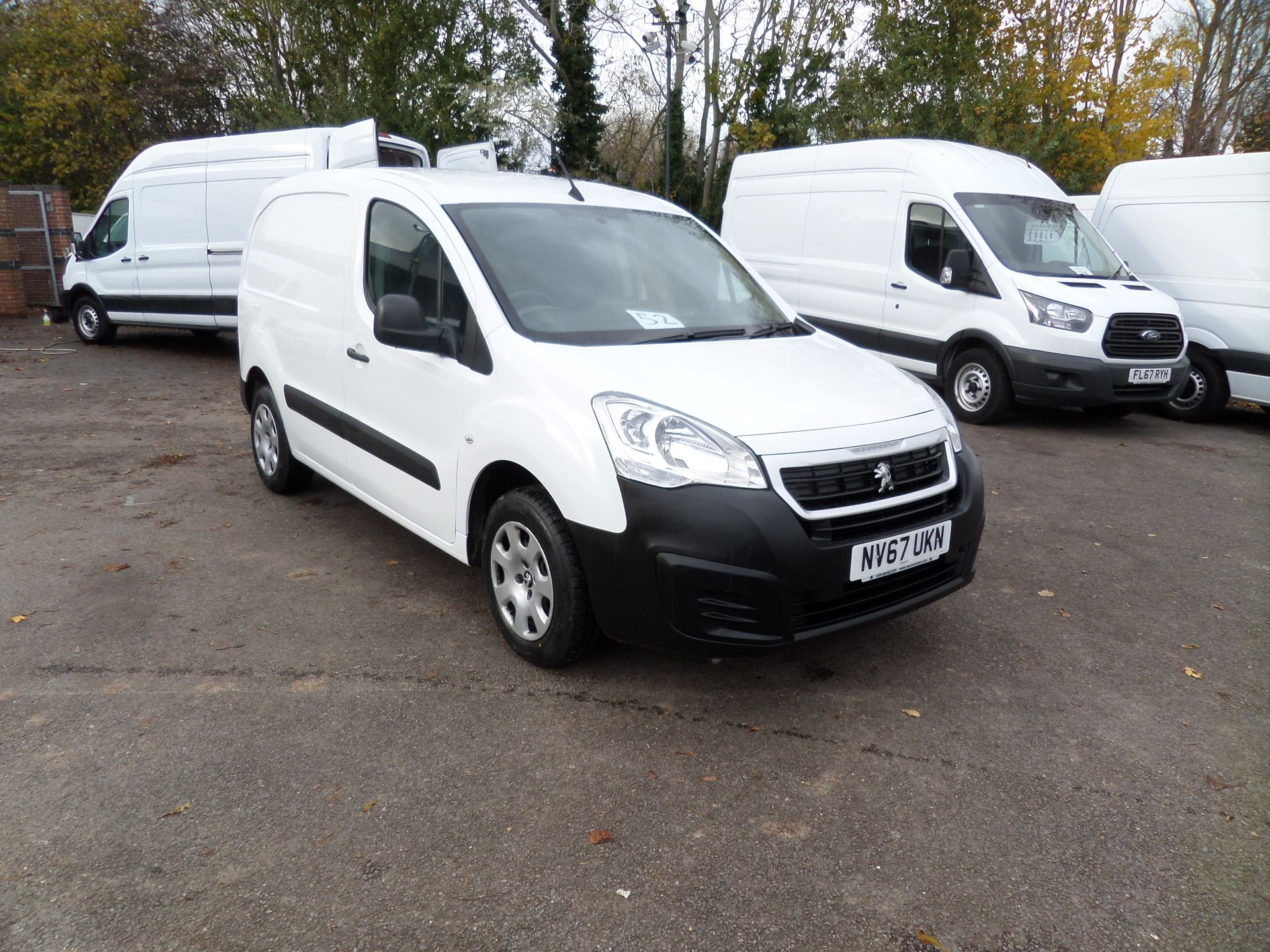 2018 Peugeot Partner 850 1.6 Bluehdi 100 Professional Van [Non Ss]Euro 6 (NV67UKN)