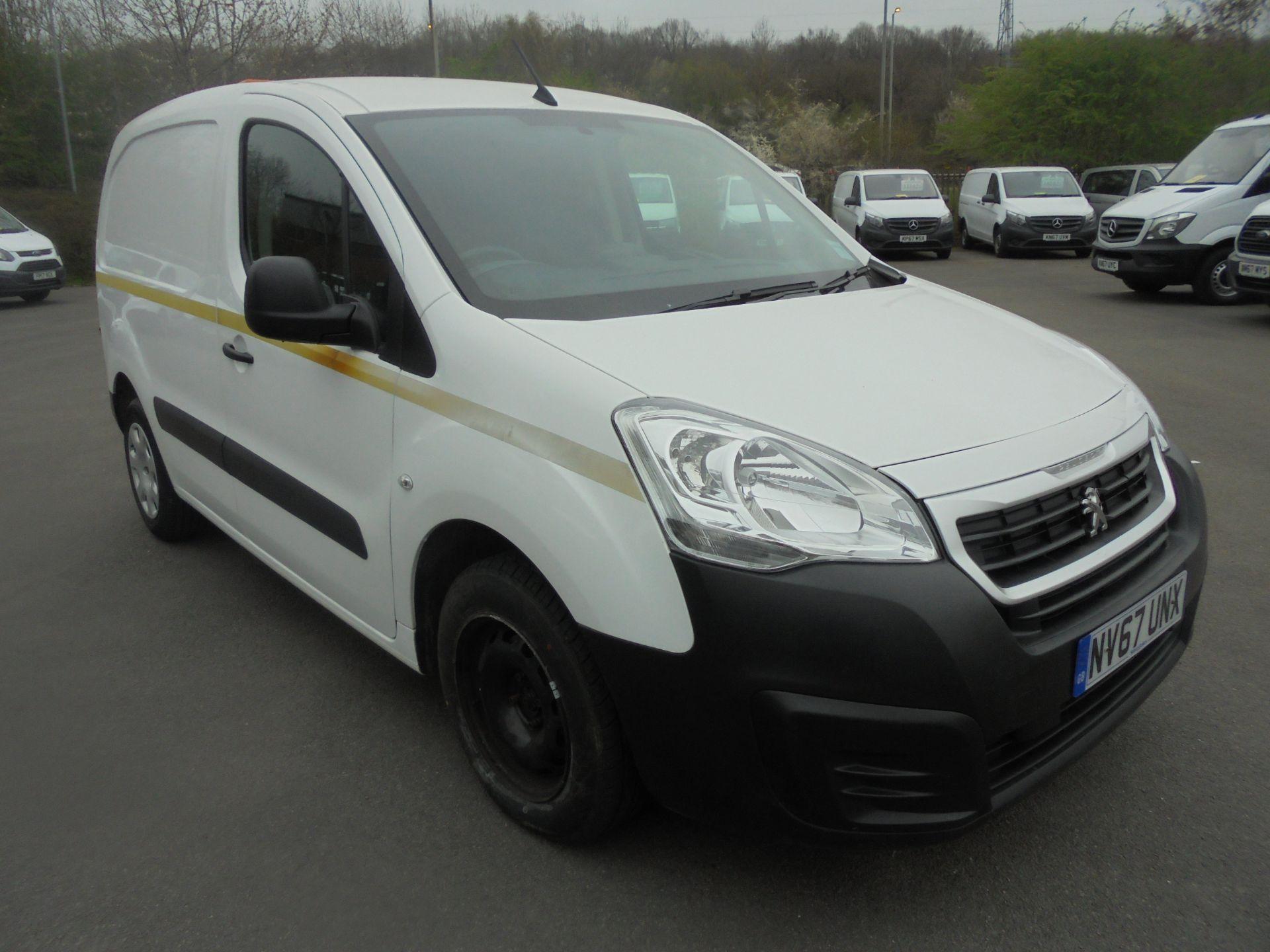 2018 Peugeot Partner 850 1.6 Bluehdi 100 Professional Van [Non Ss] (NV67UNX)