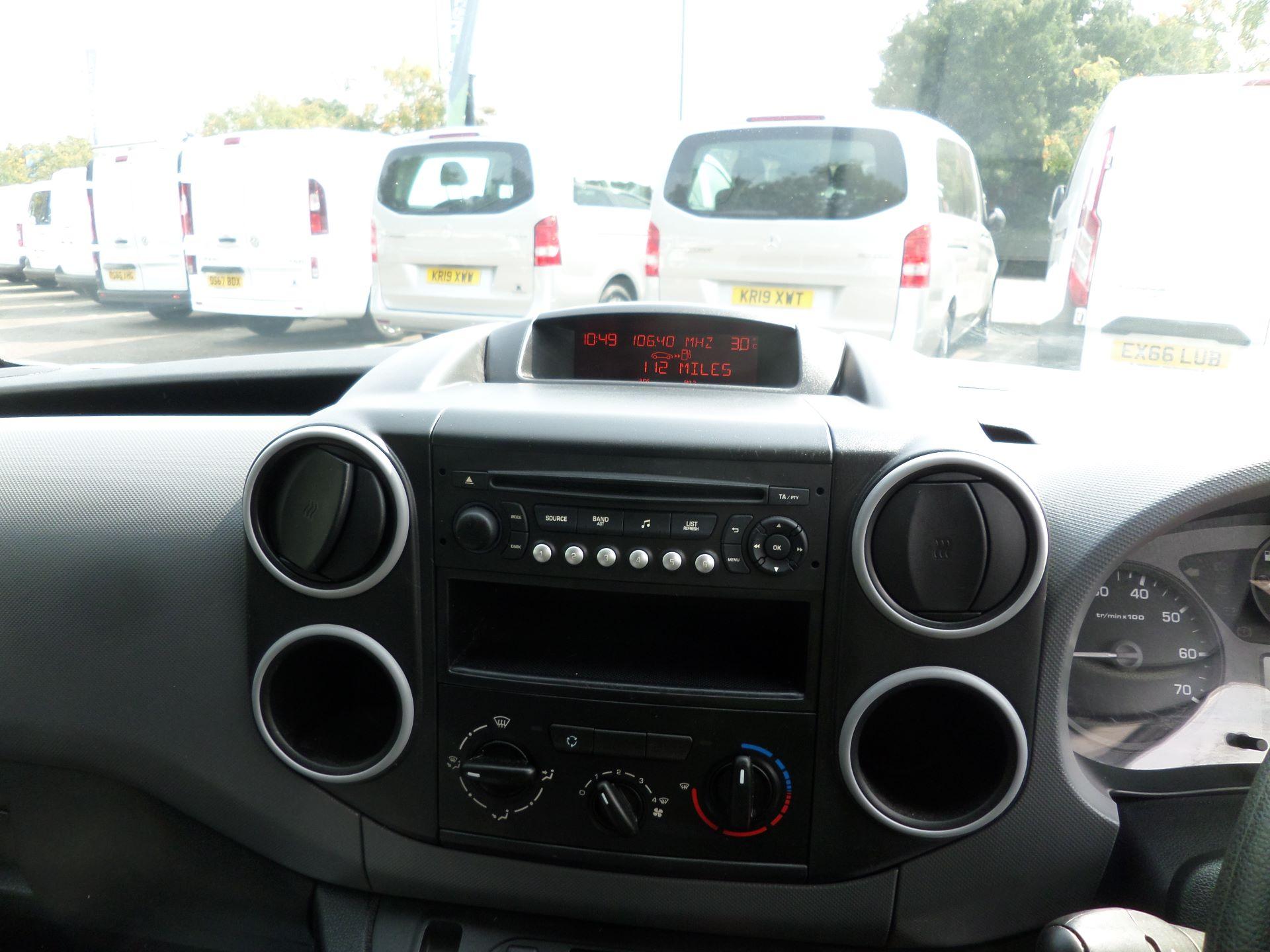2016 Peugeot Partner 850 S 1.6 Hdi 92 Van [Sld] Euro 5 (NX16YRV) Image 12