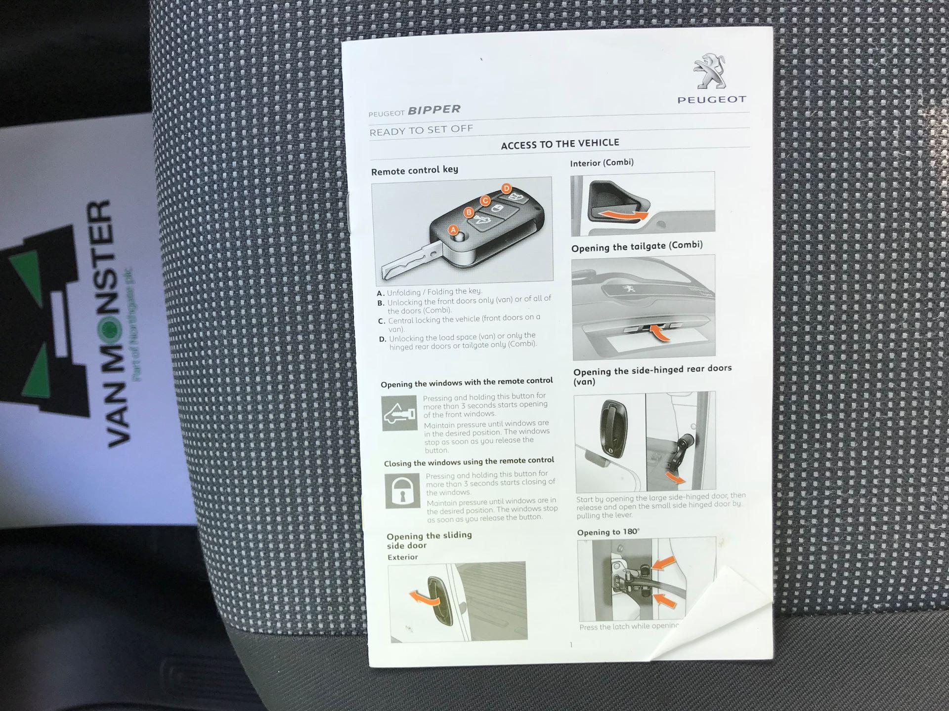 2015 Peugeot Bipper 1.3 HDI 75 S PLUS PACK NON S/S EURO 5 (NX65VCU) Image 50