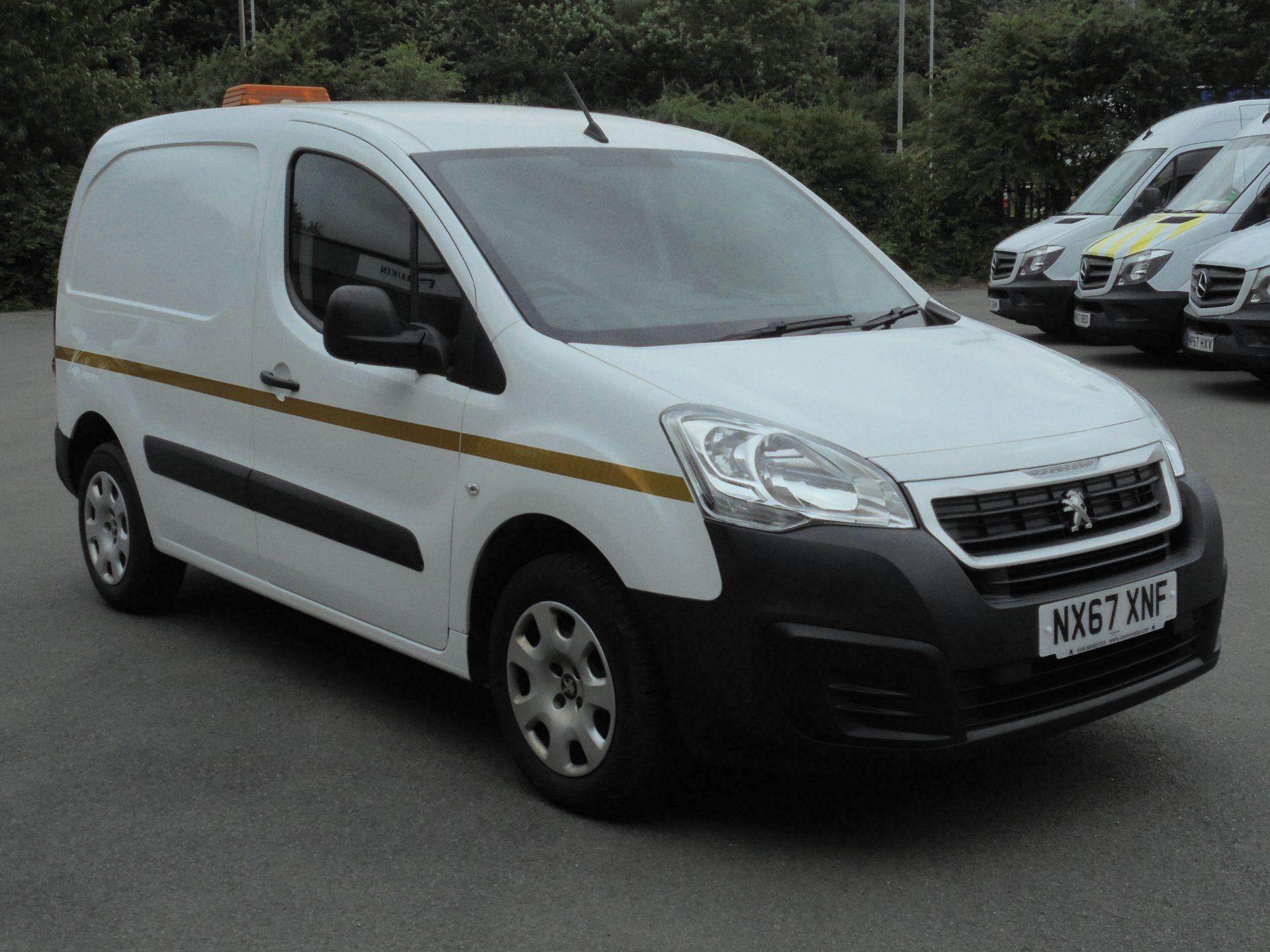 2017 Peugeot Partner 850 1.6 Bluehdi 100 Professional Van [Non Ss] (NX67XNF) Image 1