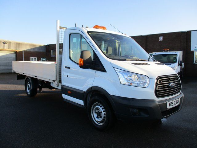 2015 Ford Transit T350 LWB TDCI 125PS S/CAB DROP SIDE. EURO 5 (WR65UUM)