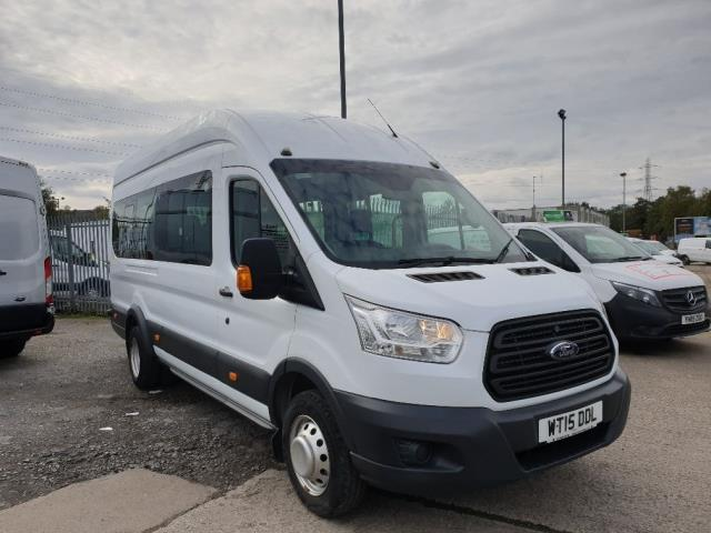 2015 Ford Transit T460 L4 H3 HIGH ROOF MINIBUS 125PS EURO 6 17 SEATER *SPEED RESTRICTOR SET @ 60mph* *MILEAGE SHOWING AS KM* (WT15DDL)