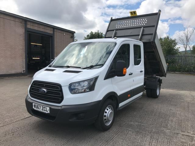 2017 Ford Transit T350 DOUBLE CAB TIPPER 130PS EURO 6 (WU67ZCL) Image 2
