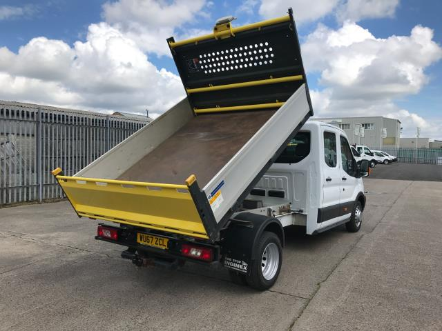 2017 Ford Transit T350 DOUBLE CAB TIPPER 130PS EURO 6 (WU67ZCL) Image 3