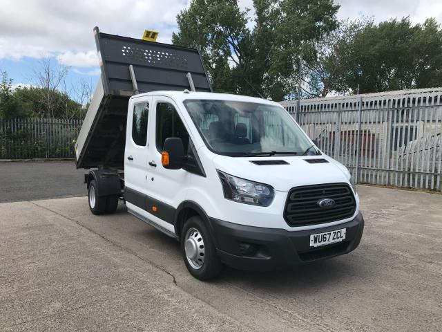 2017 Ford Transit T350 DOUBLE CAB TIPPER 130PS EURO 6 (WU67ZCL) Image 1