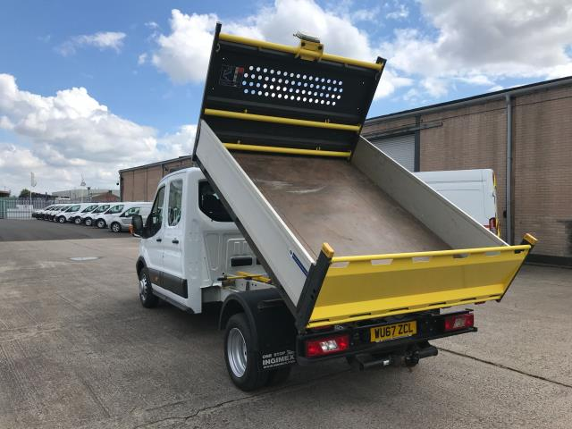 2017 Ford Transit T350 DOUBLE CAB TIPPER 130PS EURO 6 (WU67ZCL) Image 4