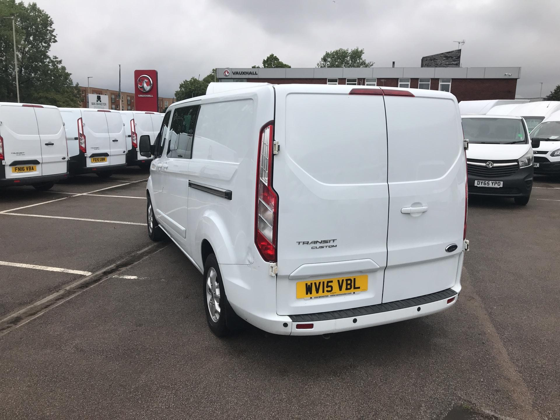 2015 Ford Transit Custom  290 L2 DIESEL FWD 2.2 TDCI 125PS LOW ROOF D/CAB LIMITED VAN EURO 5 (WV15VBL) Image 5