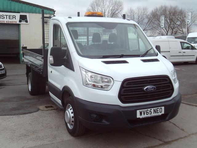 2015 Ford Transit T350 Single Cab Tipper 125ps New Shape (WV65NEO) Image 1