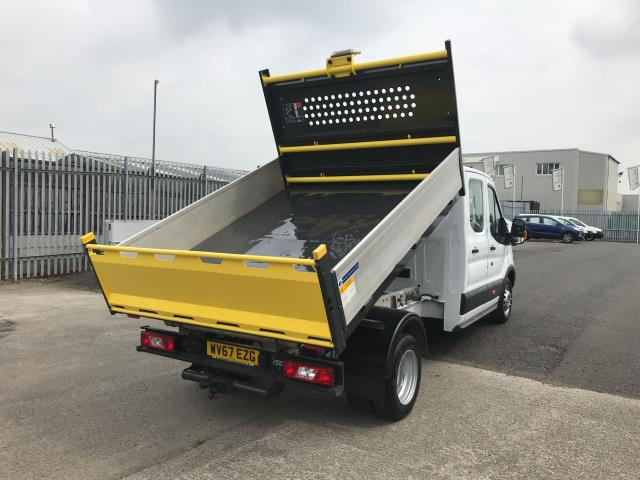 2017 Ford Transit T350 DOUBLE CAB TIPPER 130PS EURO 6 (WV67EZG) Image 3