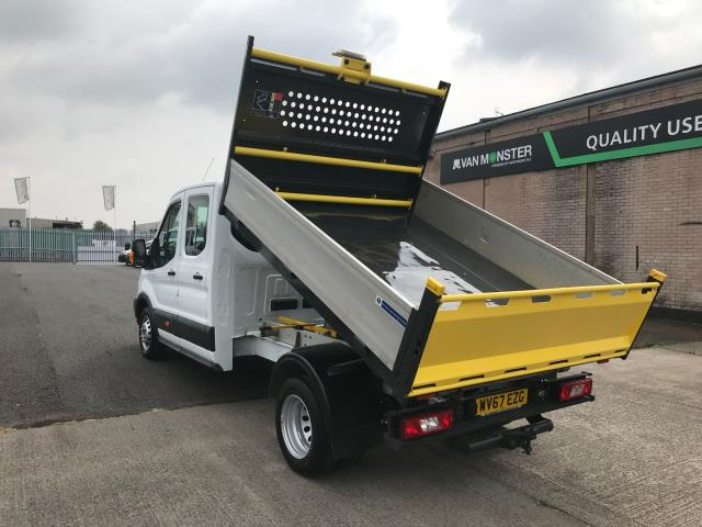 2017 Ford Transit T350 DOUBLE CAB TIPPER 130PS EURO 6 (WV67EZG) Image 4