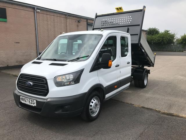 2017 Ford Transit T350 DOUBLE CAB TIPPER 130PS EURO 6 (WV67EZG) Image 2