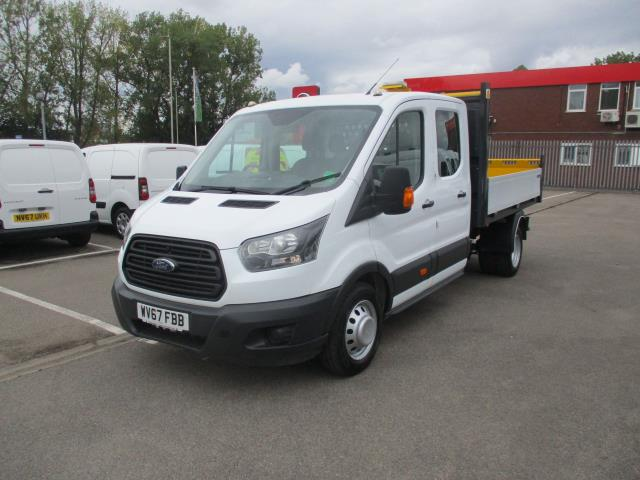 2017 Ford Transit  350 L3 DOUBLE CAB TIPPER 130PS EURO 6 (WV67FBB) Image 9