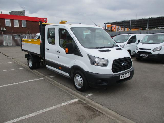 2017 Ford Transit  350 L3 DOUBLE CAB TIPPER 130PS EURO 6 (WV67FBB) Image 1