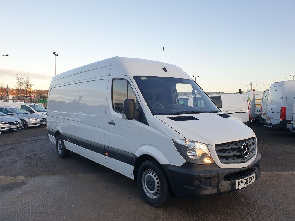 2018 Mercedes-Benz Sprinter  314 LWB H/R VAN EURO 6 *SPEED RESTRICTER SET @ 73mph* (KY68CXM) Image 1